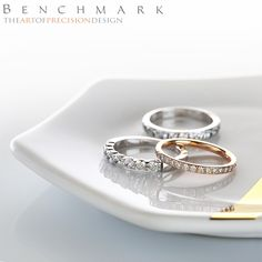 Follow @benchmarkrings to see more content!  #benchmarkretailer #benchmarkwk21  Style #: (L to R) 5535015W, 522800HFR & CF57444W.