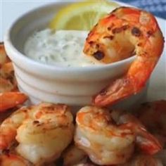Grilled Shrimp with Lemon Aioli - I would substitute Greek Yogurt for the Mayonnaise.  Much healthier!