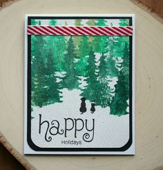 Jess Crafts: Advent Calendar Extravaganza with Taheerah Atchia | Whispering Pines stamp set by Newton's Nook Designs #newtonsook