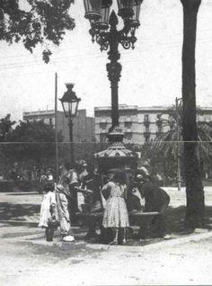 Barcelona antigua. 1904 Fuente de Canaletas