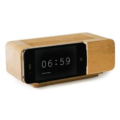 Dock Iphone en bois pour recharger son iPhone