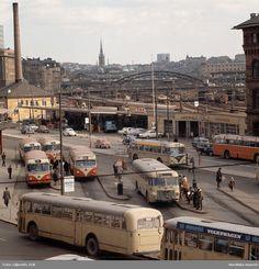 Stockholm Sweden, European History, Gas Station, Public Transport, Vintage Photographs, Old Pictures, Buses, Volvo, Nostalgia