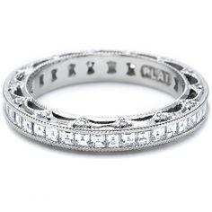 Tacori wedding band with Asscher cut diamonds