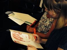 MFL and art?   MFL trainees engaging with activities to introduce their peers.