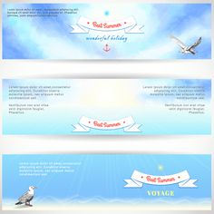 Best summer voyage travel vector banner 01