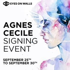 Agnes Cecile Signing Event ON NOW! All orders placed from now until Monday will be signed by Agnes herself! Everything from our mini ArtBlocks up to Giant Art will be hand signed by the Artist! Exclusively at Eyes On Walls. Shop now!