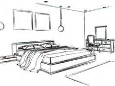 Bedroom interior design sketch living rooms Ideas Source by ideas bedroom Interior Design Sketches, White Interior Design, Bathroom Interior Design, Interior Decorating, Decorating Tips, Contemporary Interior, Modern Bedroom Furniture, Modern Bedroom Design, Living Room Interior