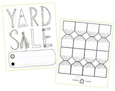 printable garage sale signs templates pinterest garage sale signs garage and for sale sign
