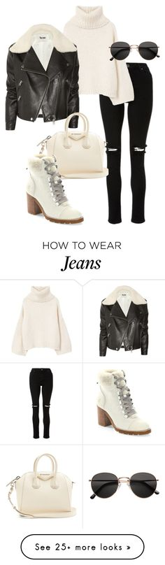 """""""Untitled #23096"""" by florencia95 on Polyvore featuring MANGO, Acne Studios, Givenchy, Frye and H&M"""