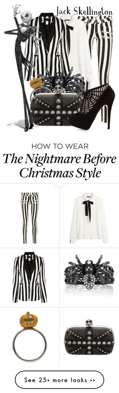 """Jack Skellington from Tim Burton's ""The Nightmare Before Christmas"""" by ginger-coloured on Polyvore"