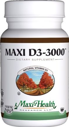 Maxi Health Natural Vitamin D3  3000 IU  Nutrition Supplement  90 Tablets  Kosher -- Details can be found by clicking on the image.
