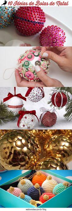 10 Maneiras de Criar e Renovar as Bolas de Natal