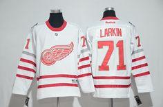e02fe3a33 Hockey Jerseys Men s Detroit Red Wings  71 Dylan Larkin Reebok Red NHL  Jersey Steve Yzerman