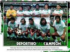 Deportivo Cali 100 Años - Campeon 1974 Jorge Ramirez, Centenario, Football Team, Soccer, Wrestling, Baseball Cards, Columbia, Champs, Sports