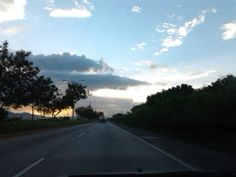 Day 48: Beautiful sky ahead of the road.