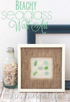 Beachy Sea Glass Wall Art - DIY - Hubby Made Me.com