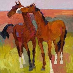 Larisa Aukon, Horsing Around by Larisa Aukon Oil ~ 24 x 24