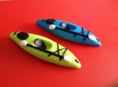2 Fondant Kayaks Boats Canoes Cake/Cupcake by RoosSweetShop, $18.00