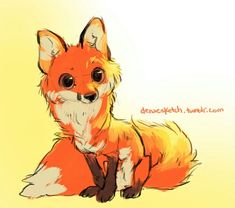 cute fox drawing foxes drawing cartoon fox fox sketch forward fox ...