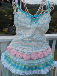 Cute Upcycled Top by ForeverFunCouture on Etsy,