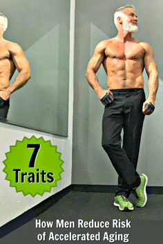 Here are the 7 traits of men who successfully reduce the risk of accelerated aging. Muscle Fitness, Mens Fitness, Fitness Tips, Fitness Motivation, Health Fitness, Senior Fitness, Over 50 Fitness, Personality Characteristics, Gym Workout Tips