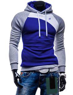 6cd2f8524ec59 New 2015 Autumn Men Casual Brand Hoodies Patchwork Fashion Hooded Fleece  Sweatshirt Male Leisure Tracksuits Jacket 9 Colors
