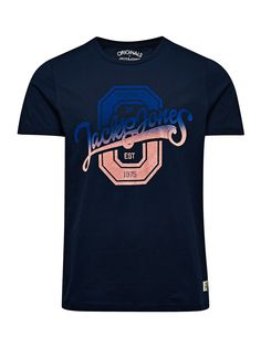 FLOCK PRINT T-SHIRT - Jack & Jones