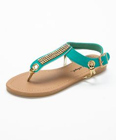 c6b74f8c3229de Spoiled Angel Kids Seafoam Rhinestone Ankle-Strap Sandal by Spoiled Angel  Kids  zulilyfinds
