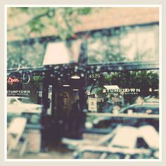 Stumptown coffee shop photo, Portland photograph, rainy day, Oregon, Pacific Northwest by Myan Soffia via Etsy #fpoe