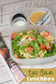 Taco Salad Lunchbox | packed in an @EasyLunchboxes container