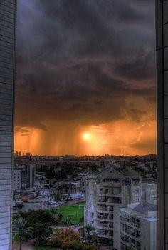 Rain Storm Over Israel