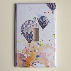 Hot Air Balloons Decorative Light Switch Cover Plate