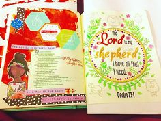 My first #biblejournaling adventure  my Nanna's favorite scripture #23rdpsalm