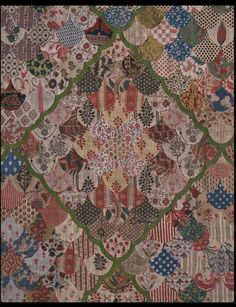 Bed Curtain 1730-50 - Victoria and Albert Museum, included in Queensland Art Gallery's 'Quilts 1700-1945' Exhibition