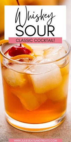 Want to make a classic Whiskey Sour? This classic cocktail's tartness is balanced out with the sweetness of whiskey and maple or simple