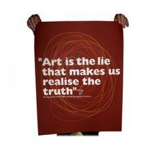 Imaginary Foundation Art Is A Lie Art Print - Art - Store