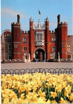 Hampton Court Palace ~ is a royal palace in the Richmond Borough upon Thames in Great London