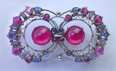 View Wonderful Arts Crafts Brooch by Edith Linnell on artnet. Browse more artworks Edith Linnell from Tadema Gallery. Antique Brooches, Antique Jewelry, Vintage Jewelry, Jewelry Crafts, Jewelry Art, Fine Jewelry, Jewellery, Synthetic Ruby, Art Nouveau Jewelry