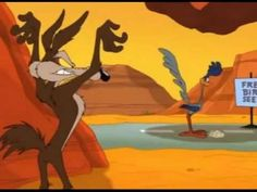 Wile E. Coyote and Road Runner cartoons in whizzard of ow