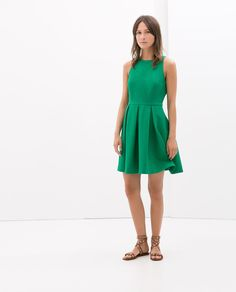{OPEN-BACK DRESS in green - under $100 - Zara}