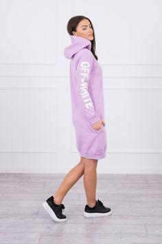 Krásne športové šaty fialové s nápismi Shirt Dress, T Shirt, Sport, Dresses, Products, Fashion, Supreme T Shirt, Vestidos, Moda