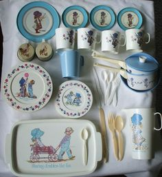 Holly Hobbie lot of dishes and more by chubbyskelliton on Etsy, $20.00
