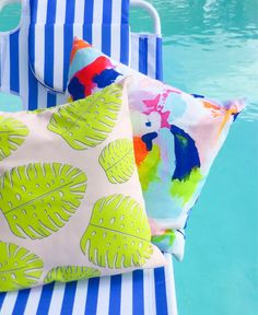 Indoor/outdoor pillows by The Blush Label, shot by Tarah Catalano
