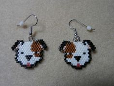 1000+ images about My Beaded Animal Earrings on Pinterest ... Beaded Earrings Patterns, Seed Bead Patterns, Jewelry Patterns, Beading Patterns, Crochet Earrings, Brick Stitch Earrings, Seed Bead Earrings, Seed Beads, Animal Earrings