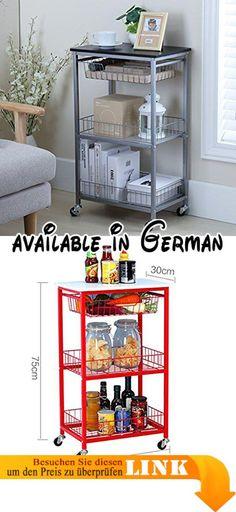 B078FLV2L3  Holz Küche Trolley mit kleinen Schublade wengè - küchenwagen mit schubladen