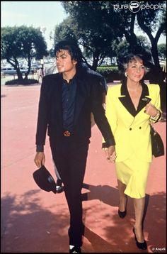 Michael Jackson et Elizabeth Taylor en 1987.
