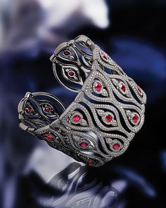 Chopard bracelet from the Red Carpet collection with 24.15 carats of diamonds and 9.36 carats of rubies set in titanium.