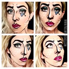 Pop Art!  Makeup done by me   Please visit my site in my bio!