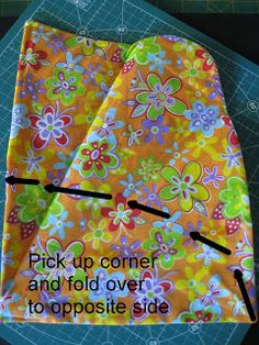 Vicki's Fabric Creations: Folded Fabric Scissor Holder-Rounded Top Version (step 2)