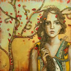 "Monica Fernandez Pintora. ""anidando"" 150*150 mixta sobre madera"